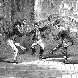 Inmates at Hanwell Asylum at a dance for Twelfth Night