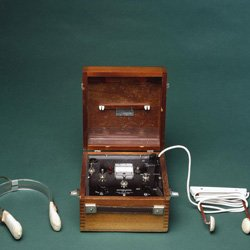 An electroconvulsive shock therapy machine