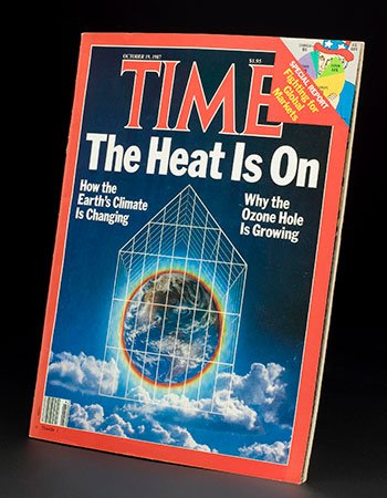 1987 Time magazine with cover story about ozone hole