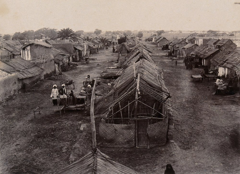Plague segregation camp in Karachi, 1897.