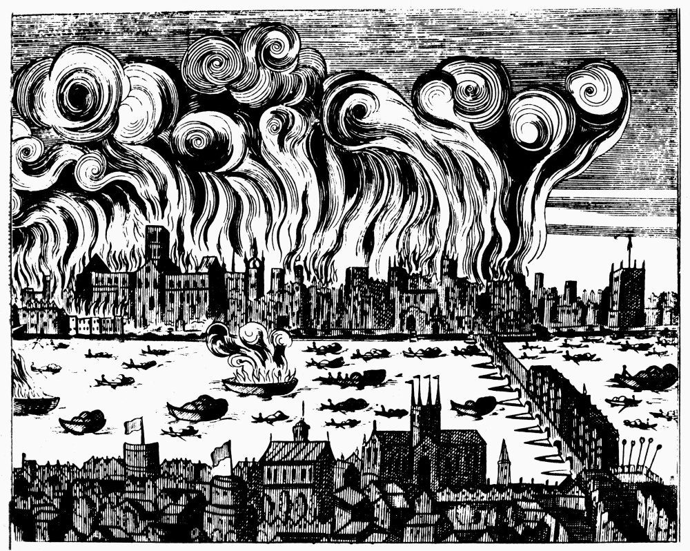 The great fire naive illustration