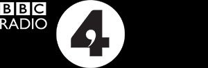 Radio 4 logo in white against a black background